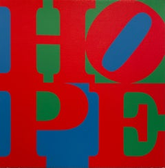 HOPE, 2015, Original Mixed Media Painting on Canvas, Robert Indiana - SIGNED