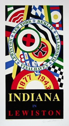 Indiana in Lewiston, Limited Edition Signed Silkscreen, Robert Indiana - LARGE
