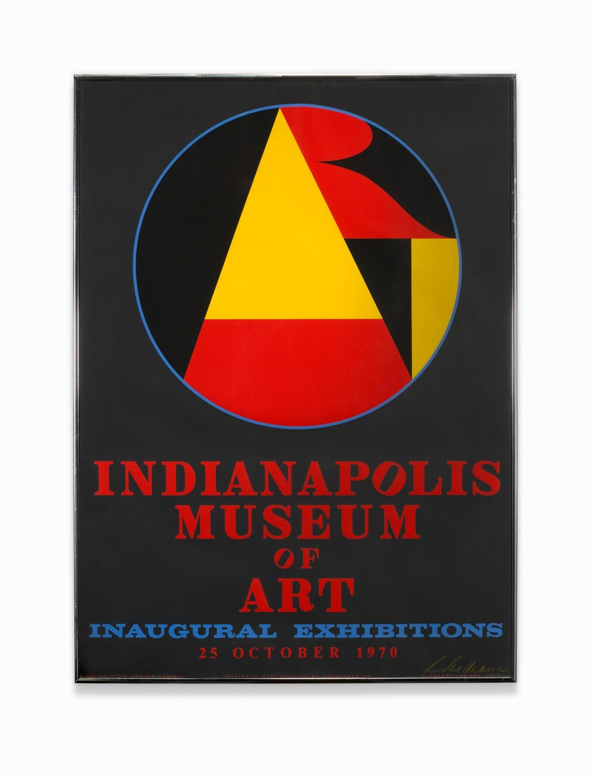"""""""Indianapolis Museum of Art Inaugural Exhibitions"""", Color Silkscreen, Signed"""