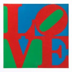 LOVE - Original MoMA Christmas Card, Screen Print, 1965, Pop Art, 20th Century