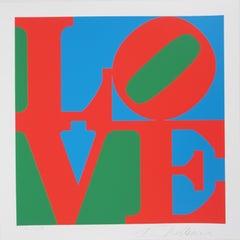LOVE - Original screenprint, Handsigned - Certificate