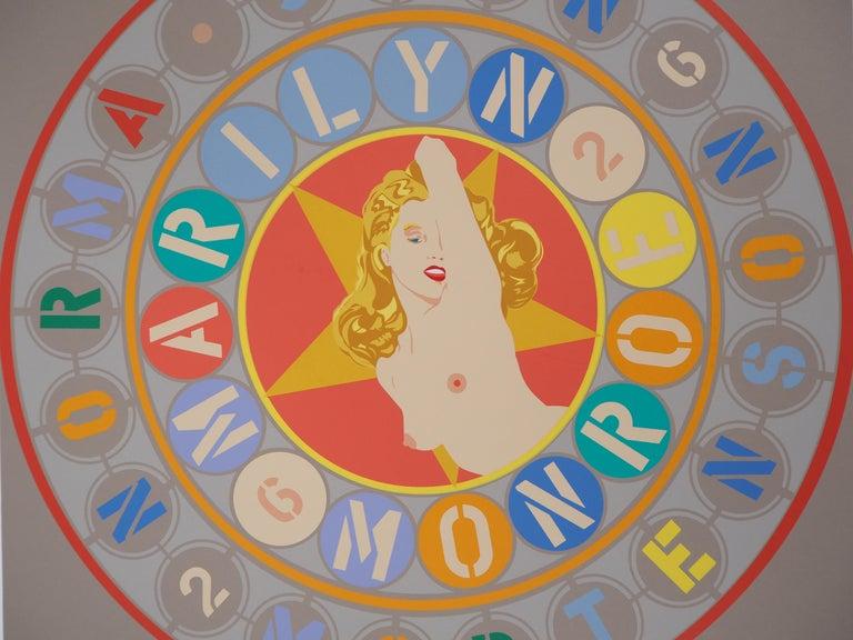 Robert INDIANA Marilyn Monroe (The Metamorphosis of Norma Jean Mertenson), 1997  Original screenprint Handsigned in pencil Numbered TP 23/30 On vellum 40.5 x 40.5 cm (c. 16 x 16 inch)  INFORMATION : From the portfolio