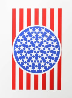 New Glory Banner, Serigraph from the American Dream Portfolio by Robert Indiana