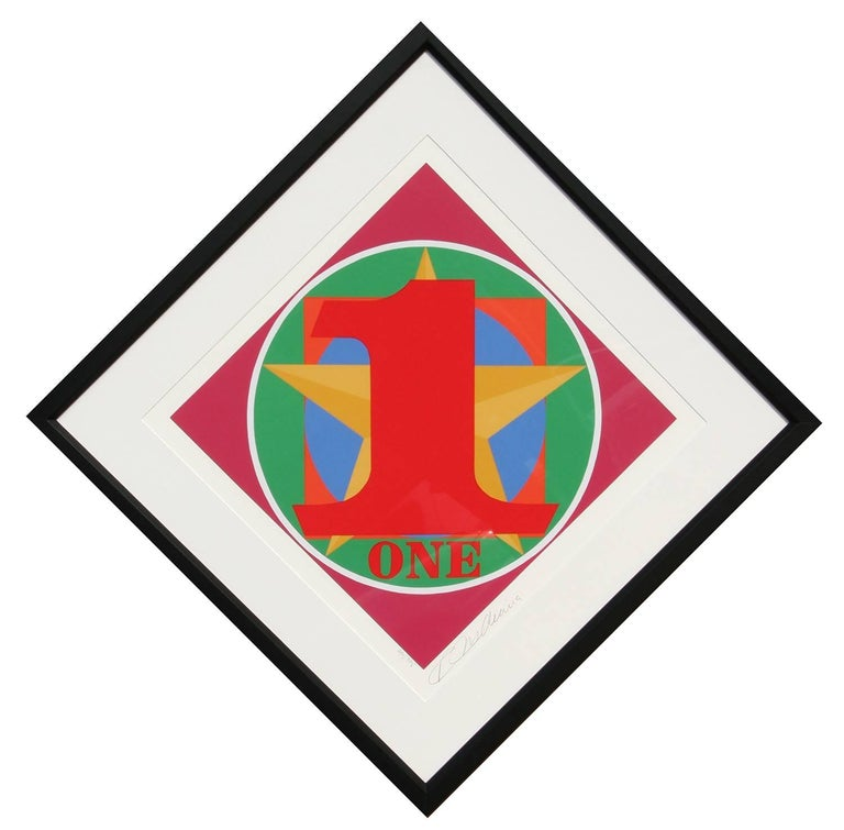Robert Indiana Abstract Print - Number One from the American Dream Portfolio