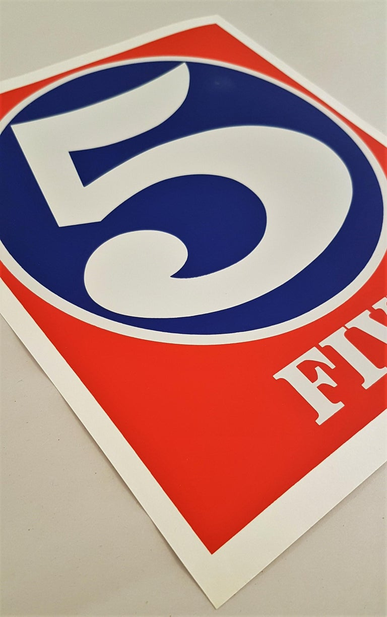 Number Suite - Five - Print by Robert Indiana