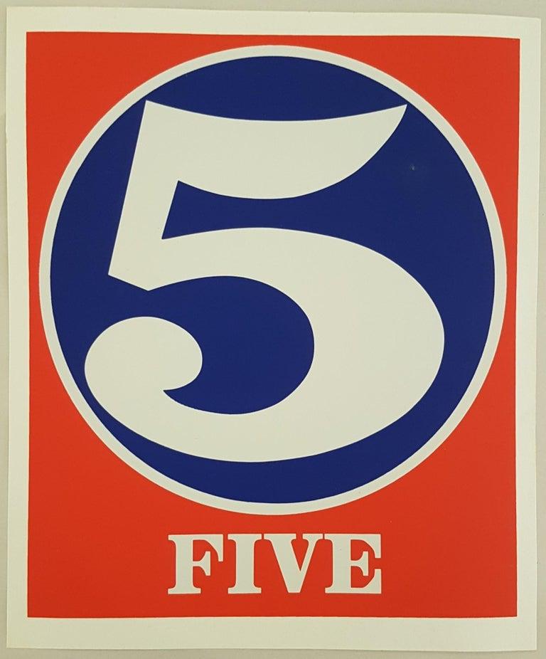 Robert Indiana Print - Number Suite - Five