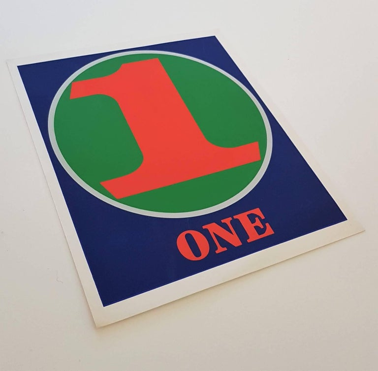 Number Suite - One - Modern Print by Robert Indiana