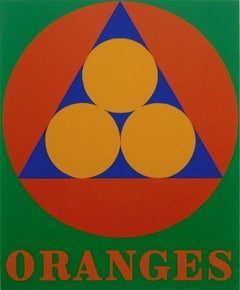 Oranges, Limited Edition Silkscreen, Robert Indiana
