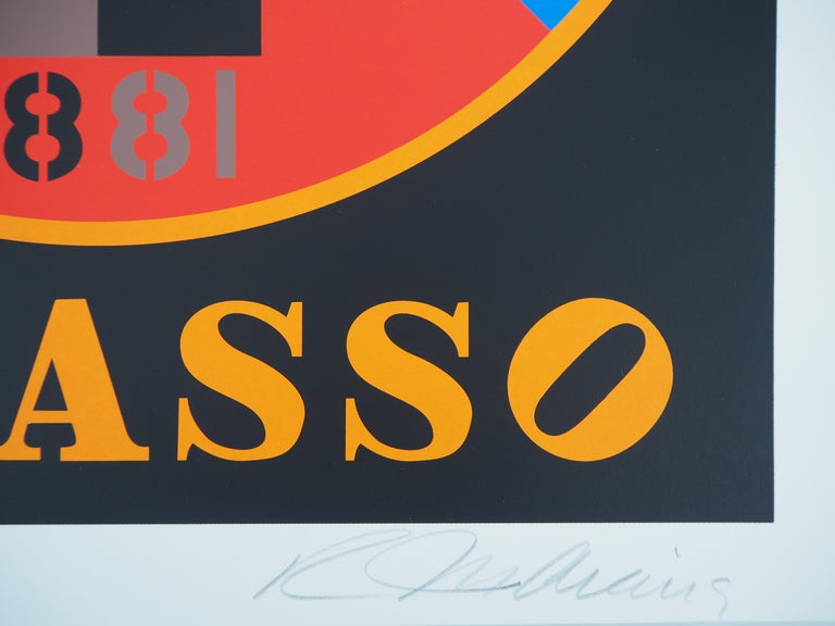 Picasso - Original screenprint, Handsigned - Certificate - Print by Robert Indiana