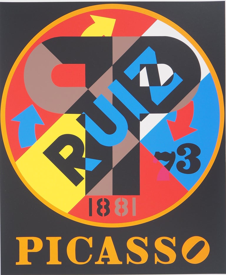 Picasso - Original screenprint, Handsigned - Certificate - American Modern Print by Robert Indiana