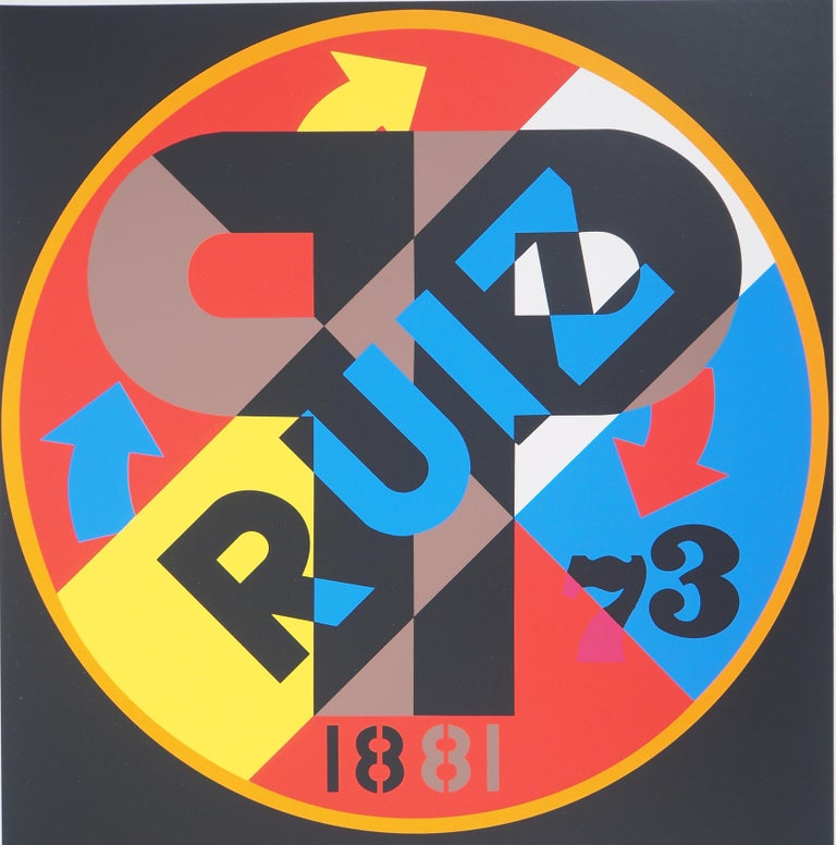 Robert INDIANA Picasso, 1997  Original screenprint Handsigned in pencil Numbered TP 23/30 On vellum 48 x 40.5 cm (c. 19 x 16 inch)  INFORMATION : From the portfolio