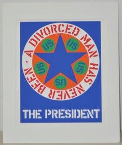 """Robert Indiana """"A Divorced Man Has Never Been President"""" c.1997"""