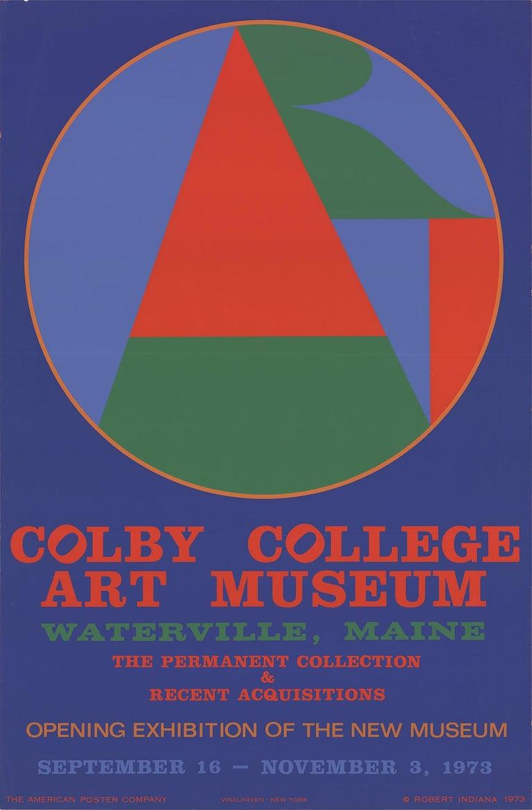 Robert Indiana - Colby College Art Museum - 1973 Silkscreen Poster - Print by Robert Indiana