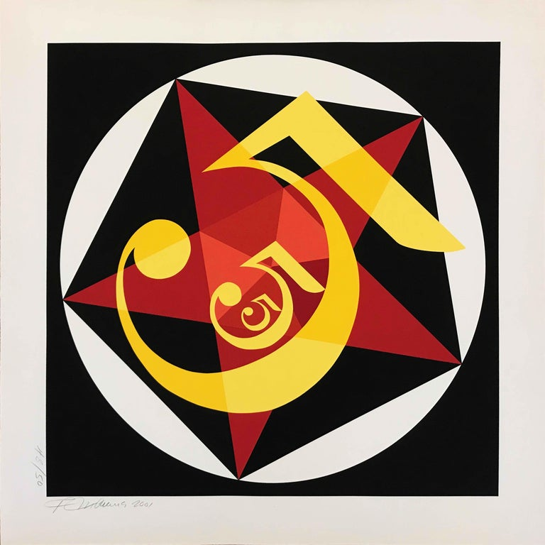 "Robert Indiana ""Demuth 5""; 2001; Silkscreen; 36 x 36 inches; Edition of 50 - Print by Robert Indiana"