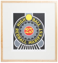 "Robert Indiana-Highball on the Redball Manifest-18.5"" x 16""-Serigraph-1997-Pop"