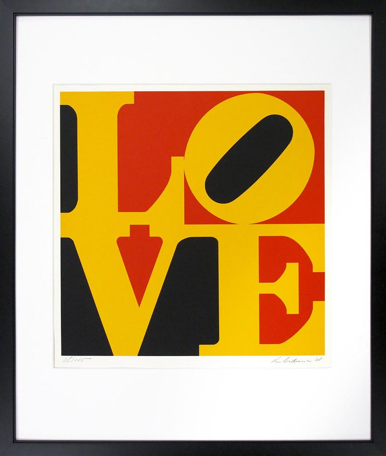 "Robert Indiana, ""Love (German Love)"", 1968, (35/100) - Print by Robert Indiana"