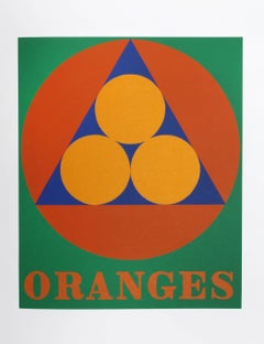 "Robert Indiana, ""Oranges"", from the American Dream Portfolio"