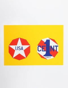 """Robert Indiana, """"The New Glory Penny"""", from the American Dream Portfolio"""
