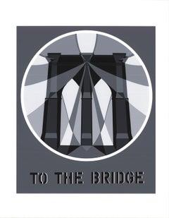 "Robert Indiana-To the Bridge (Brooklyn Bridge)-22"" x 17""-Serigraph-1997-Pop Art"
