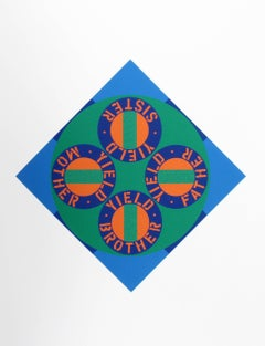"""Robert Indiana, """"Yield Brother #2"""", Serigraph from the American Dream Portfolio"""