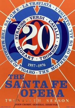 Santa Fe Opera 20th Anniversary Season, 1976 Edition Silkscreen