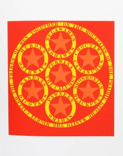 """""""The Calumet"""", Serigraph from the American Dream Portfolio by Robert Indiana"""
