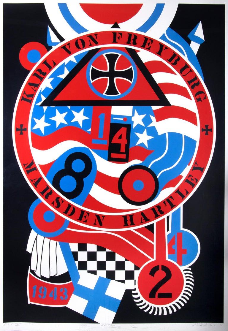Robert Indiana Print - The Hartley Elegies: Berlin Series, Karl Von Freyburg II -  by R. Indiana - 1990