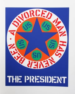 """The President"", Serigraph from the American Dream Portfolio by Robert Indiana"