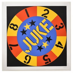 "Robert Indiana Screen Print ""Juke"" 1 of 4 Signed in Pencil on Wove Paper"