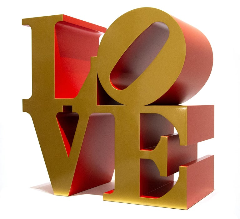 """A sculpture by Robert Indiana. """"LOVE"""" is an iconic Robert Indiana sculpture executed in paint on metal. Robert Indiana is synonymous with his high profile """"Love"""" sculptures that can be found in important museum and private collections worldwide."""