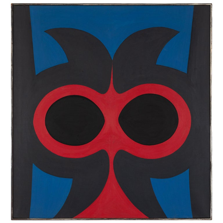 """Robert Indiana """"Untitled"""" Oil on Canvas, USA 1959 For Sale"""
