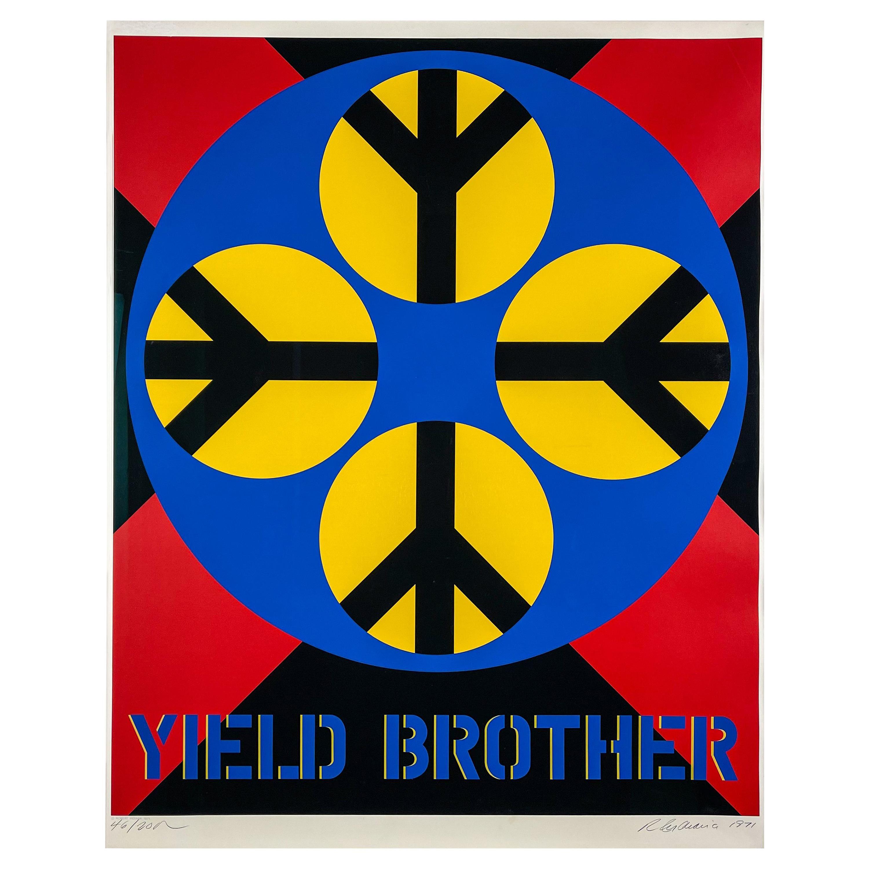 Robert Indiana - Yield Brother 1971 - Screenprint Wove-Paper, Framed Museumglass