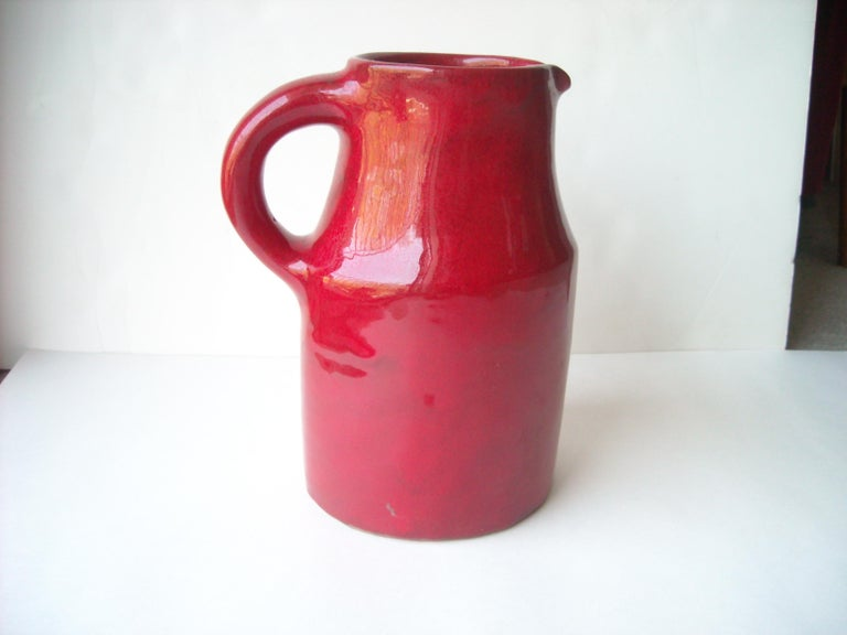 Modern Robert & Jane Cloutier High Glossy Finish/ Ceramic / Terracotta, Pitcher, Large For Sale