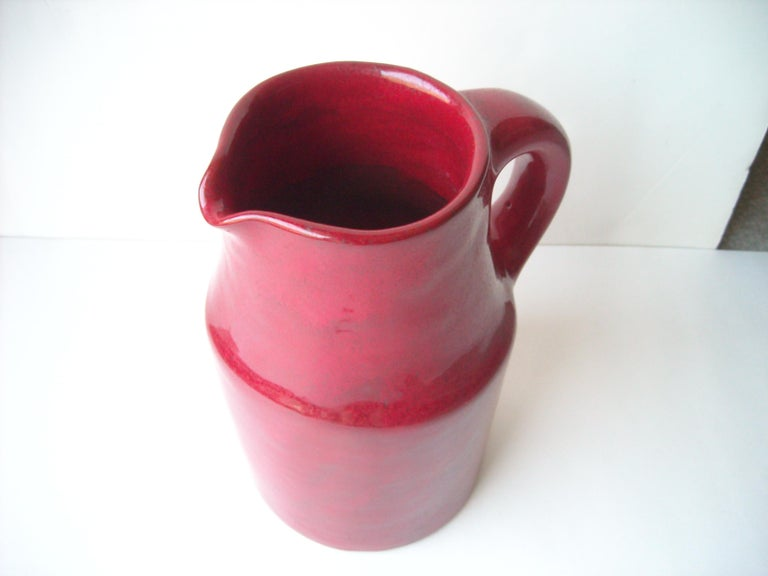Robert & Jane Cloutier High Glossy Finish/ Ceramic / Terracotta, Pitcher, Large In Excellent Condition For Sale In Los Angeles, CA