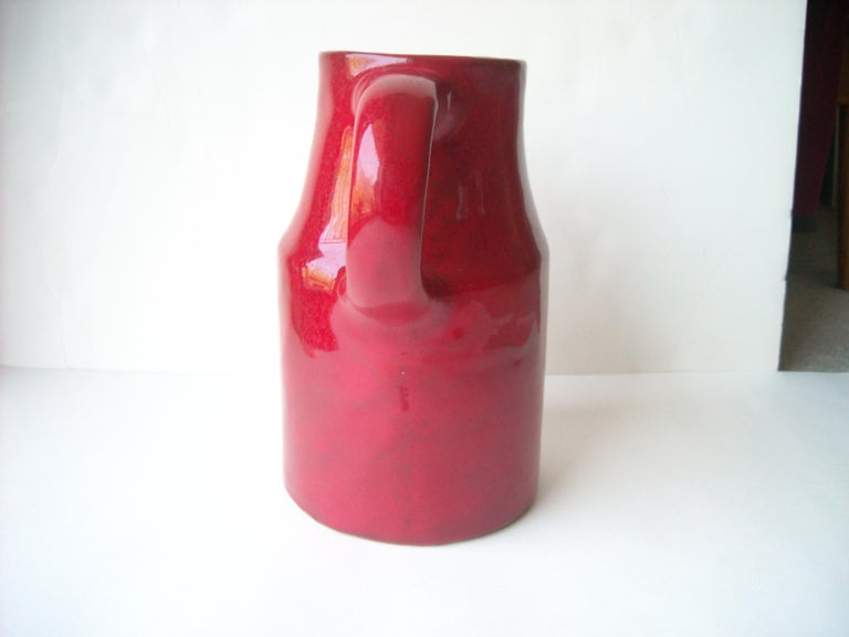 Mid-20th Century Robert & Jane Cloutier High Glossy Finish/ Ceramic / Terracotta, Pitcher, Large For Sale