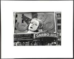 Greta Garbo at the Astor Theater, Black and White Photograph