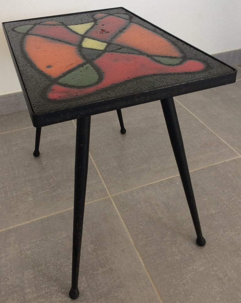 Robert and Jean Cloutier French Midcentury Ceramic Cocktail or Side Table In Good Condition For Sale In Arles, FR