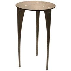 Robert Josten Industrial Design Tall Pedestal Cocktail Table California Design