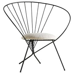 Robert Kasindorf Hoop Chair with Boucle Seat, 1953