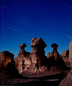 """Aliens at Goblin Valley,"" performance photography by Robert Kawika Sheer"