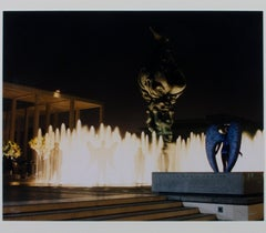 """Angels at the Music Center Fountain,"" art photography by Robert Kawika Sheer"