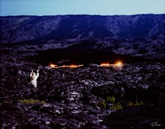 """Pele Reigniting an Old Lava Flow,"" Photograph signed by Robert Kawika Sheer"