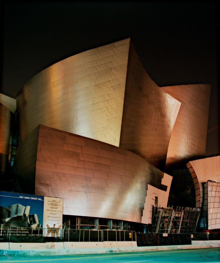 """The Herald Angel Prepares to Sing, Walt Disney Concert Hall - Los Angeles, CA,"" is an original fine-art performance photograph by Robert Kawika Sheer, signed in the lower right and numbered in the lower left. The image depicts the Frank"