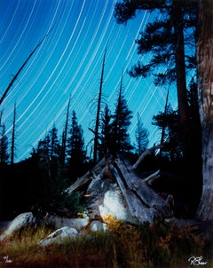 """The Spirit of John Muir with Start Trails, Yosemite,"" photograph by R.K. Sheer"
