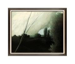 Robert Kipniss Original Oil Painting On Canvas Large Landscape Signed Artwork