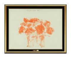 Robert Kulicke Gouache Painting Original Signed Vase Of Flowers Still Life Art
