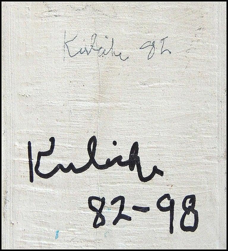 Robert Kulicke Original Painting Glazed Ceramic Tile Still Life Fruit Signed Art For Sale 1