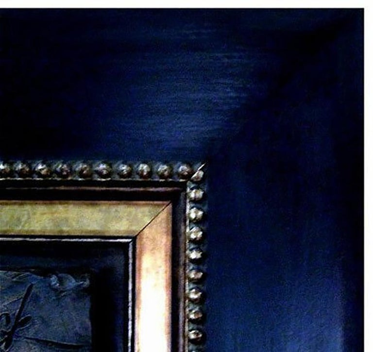 Robert Kulicke Original Painting Glazed Ceramic Tile Still Life Fruit Signed Art For Sale 3