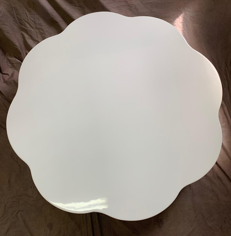 Robert Kuo Leaf Design Lacquered Cocktail Table For Sale 3