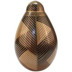 Robert Kuo Modern Cloisonne Lidded Baluster Jar